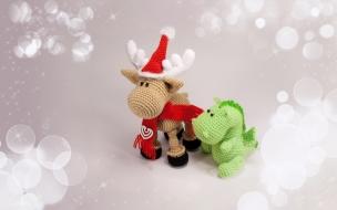 Bellos adornos tejidos para navidad