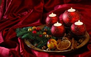 Decoracion de velas para navidad