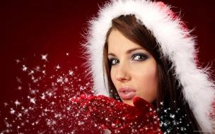 Bellas mujeres en navidad