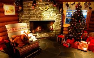 Decoración de interiores de casa para navidad
