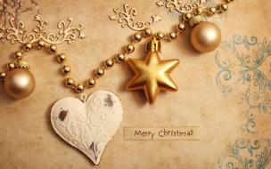 Fondo dorado con adornos de navidad