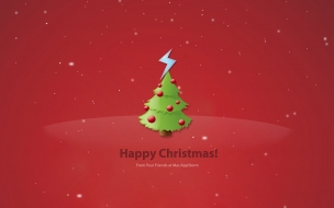 Wallpaper para Navidad 2014 fondo rojo