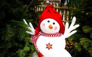 Adorable muñeco de las nieves