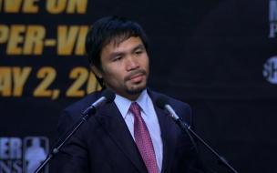 Manny Pacquiao antes de la pelea