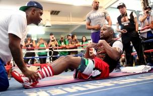 El entrenamiento de Floyd Mayweather