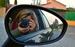 Selfie desde el auto