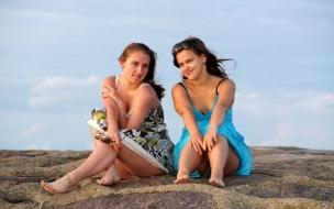 Chicas bellas en las playas