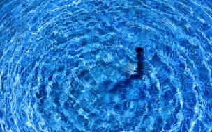 Textura de agua en piscina