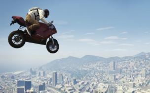 Moto saltando