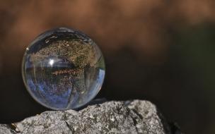 Una esfera transparente