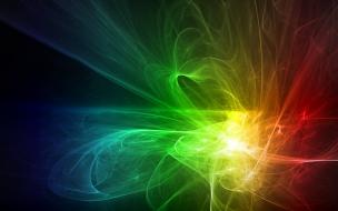 Luces y rayos abstractos
