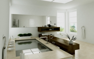Diseño interior de un baño