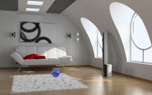 Diseño 3d de una sala