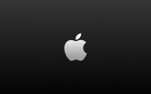 Logo de Apple fondo negro