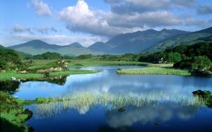 El lago azul