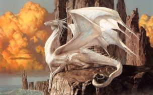 Un dragon blanco