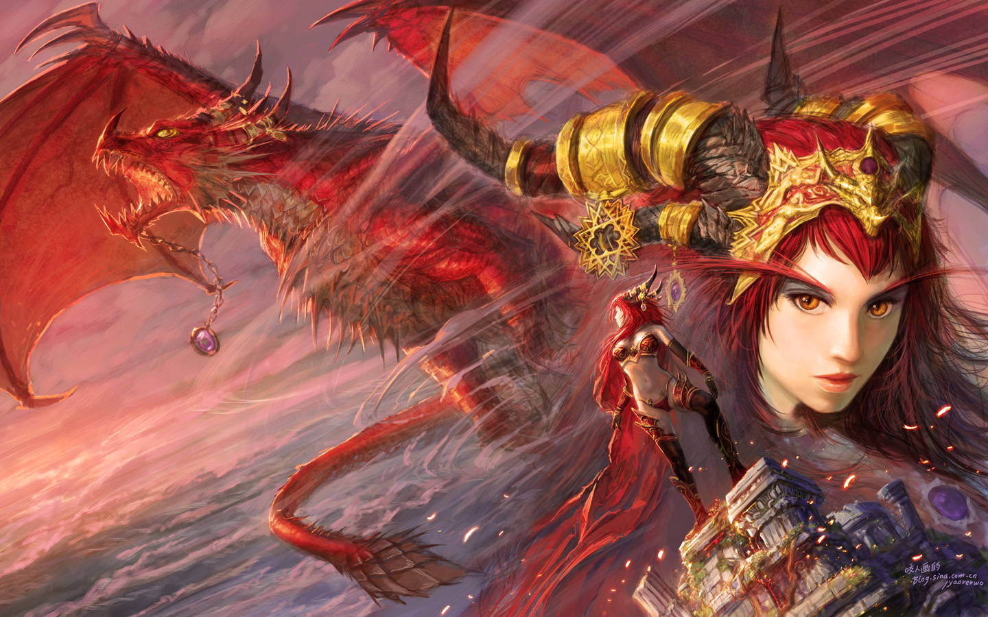 Alexstrasza y World of Warcraft - 1440x900