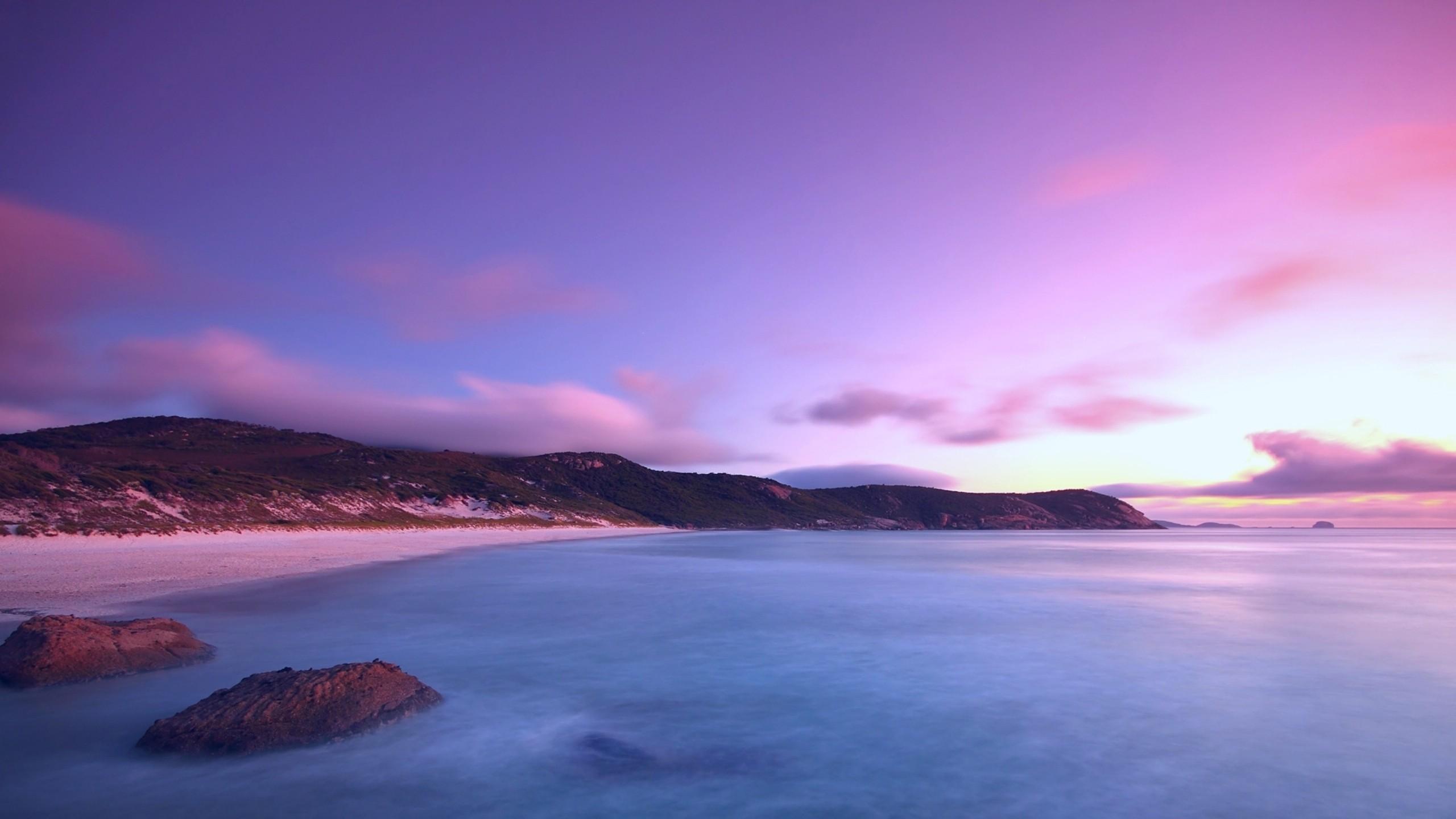 Amanecer en el mar - 2560x1440