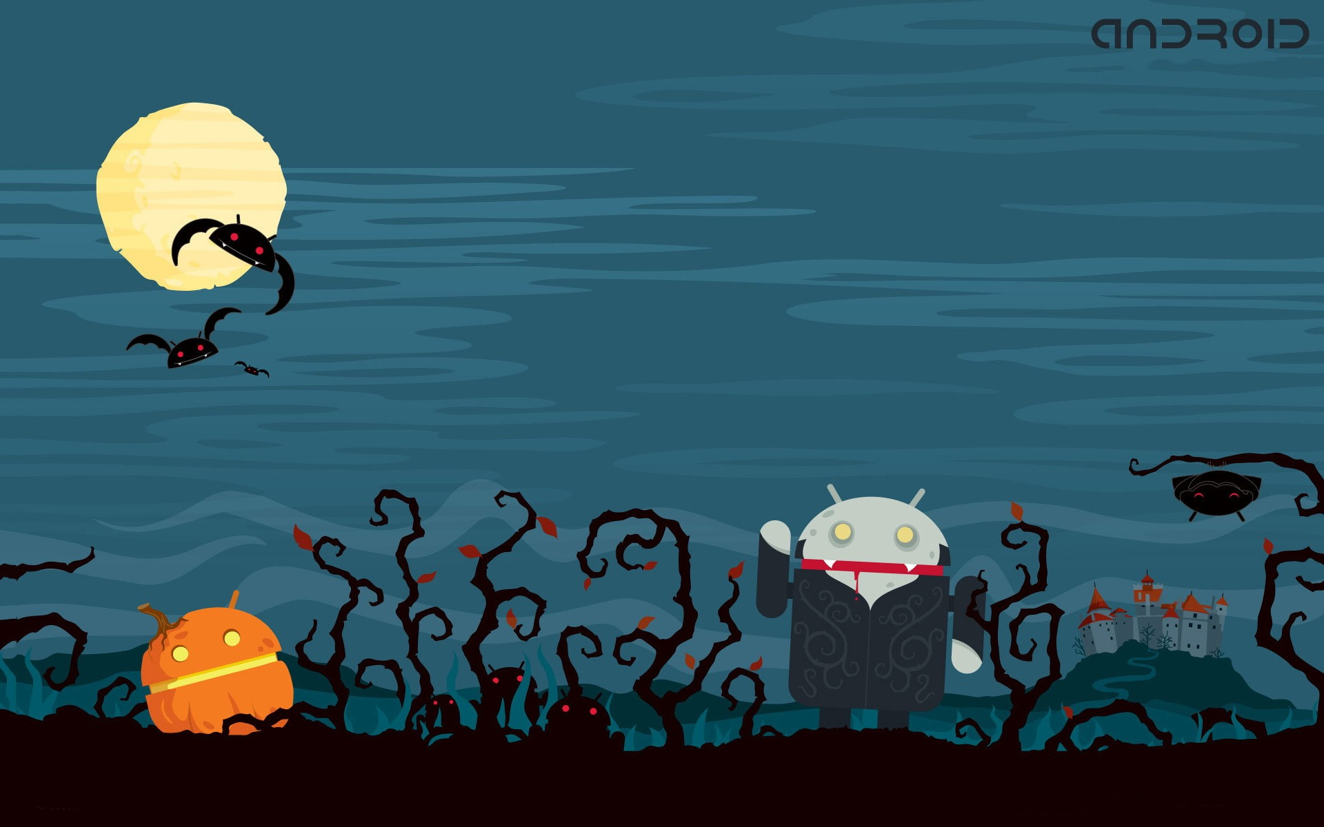 Android Halloween - 1920x1200