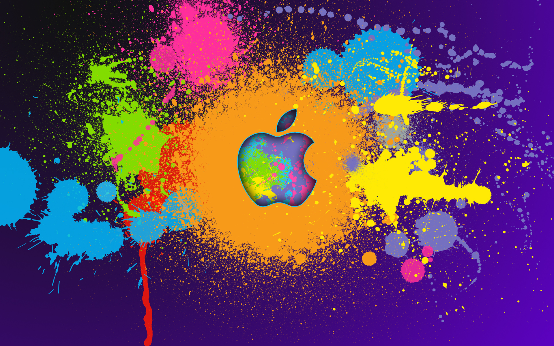 Arte digital y logo de Apple - 1920x1200
