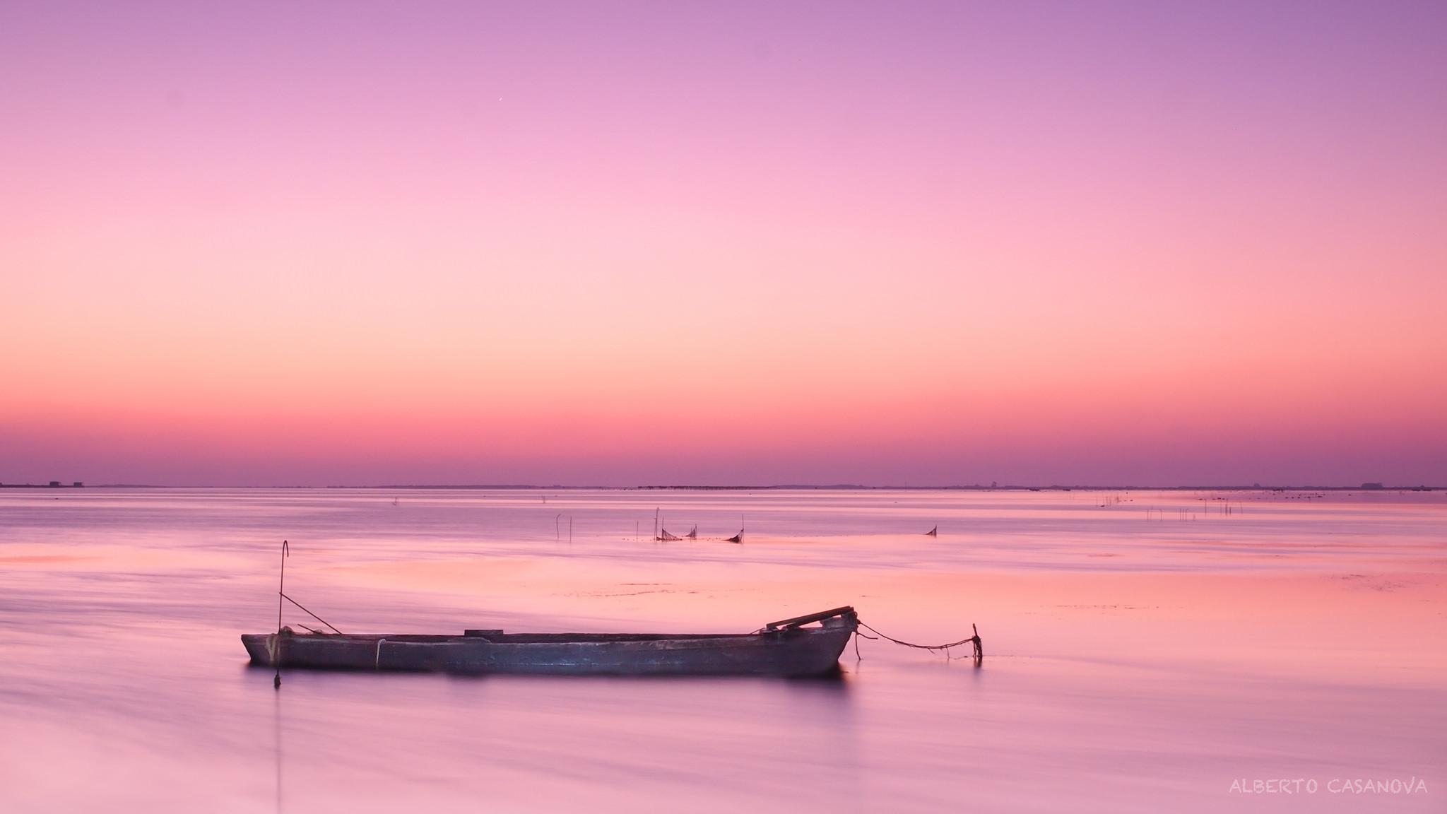 Atardecer de color rosado - 2048x1152