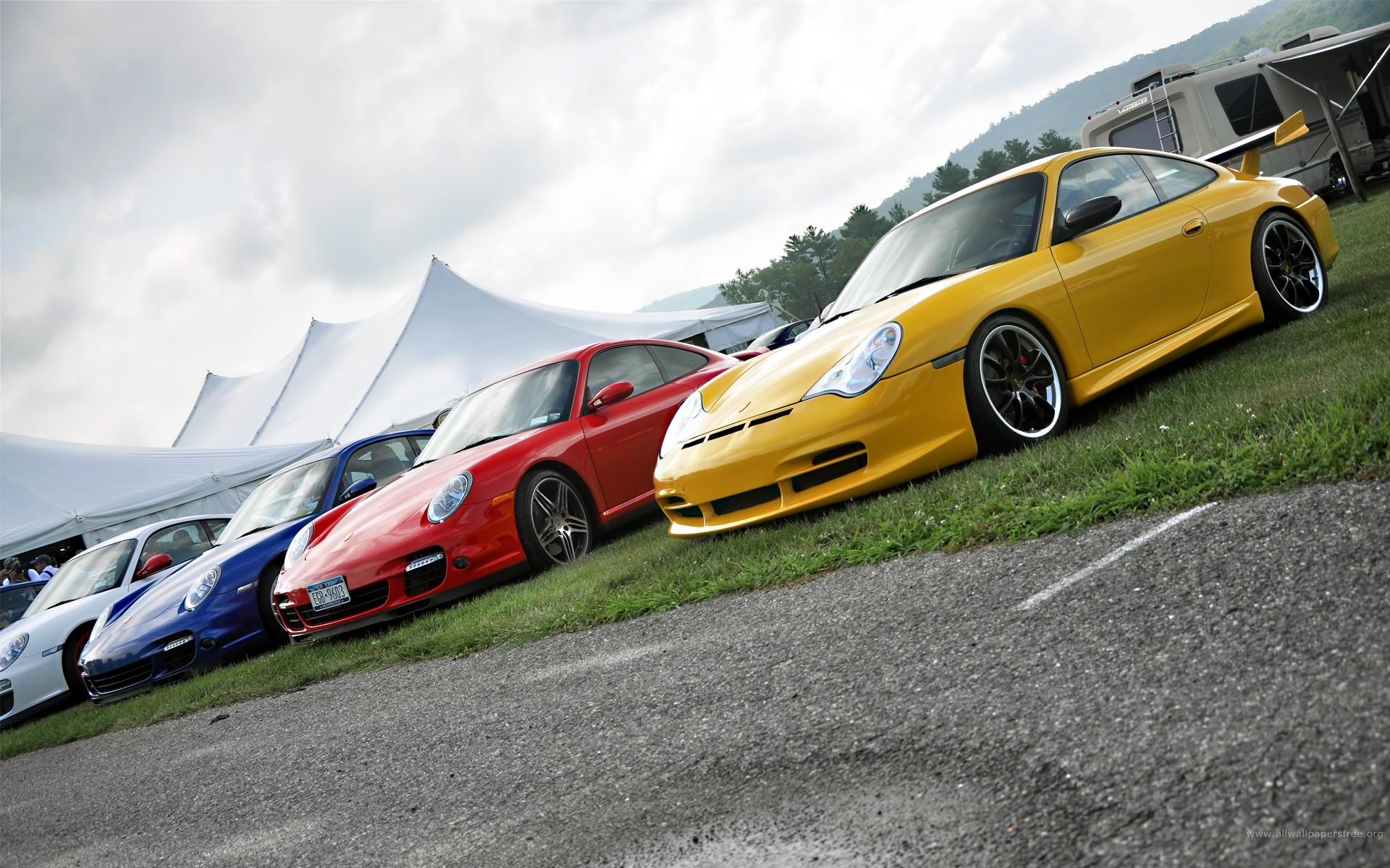 Autos Porsche de colores - 1920x1200