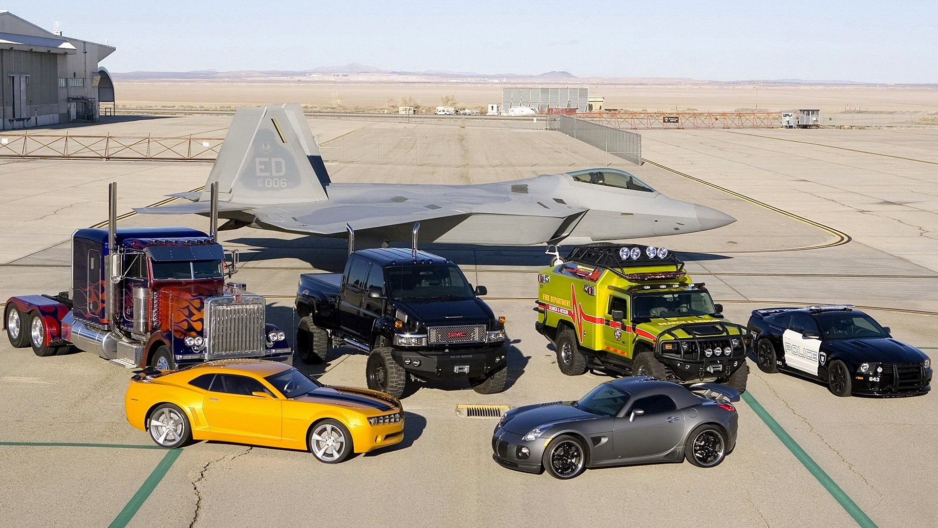 Autos y aviones - 1920x1080