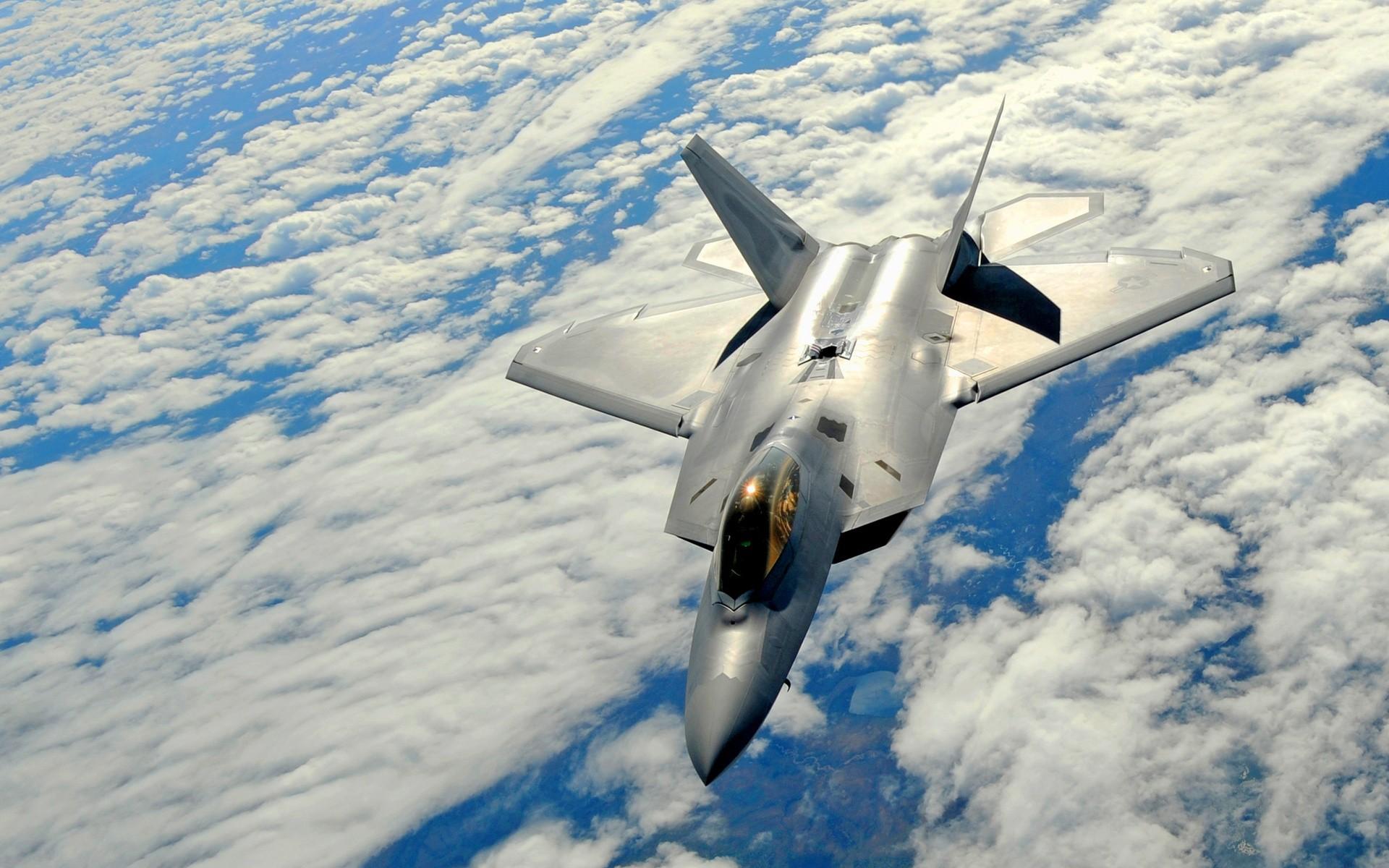 Avión F 22 raptor - 1920x1200