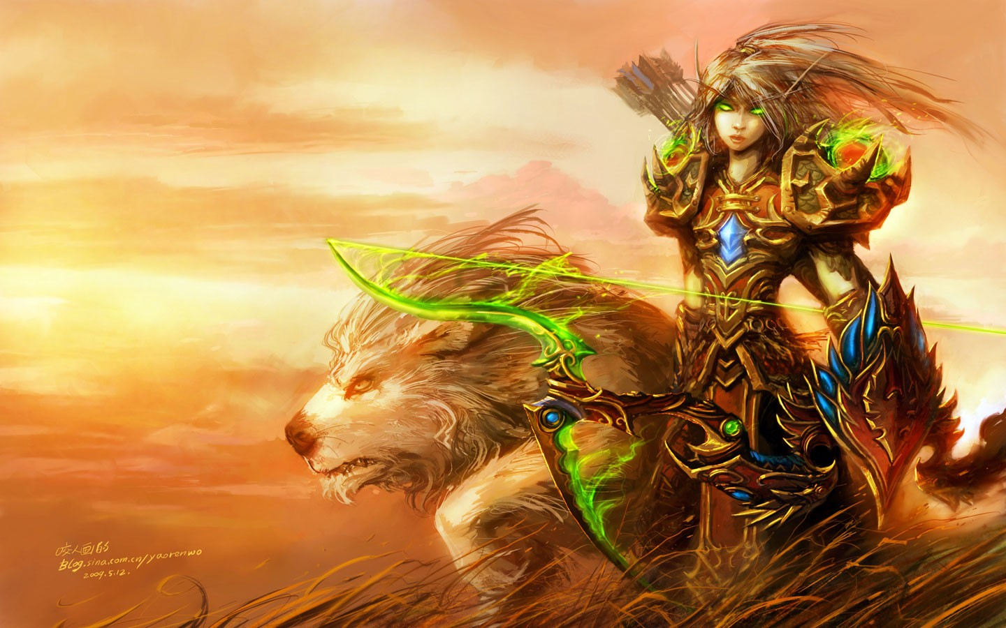 Blood Elf de World of Warcraft - 1440x900