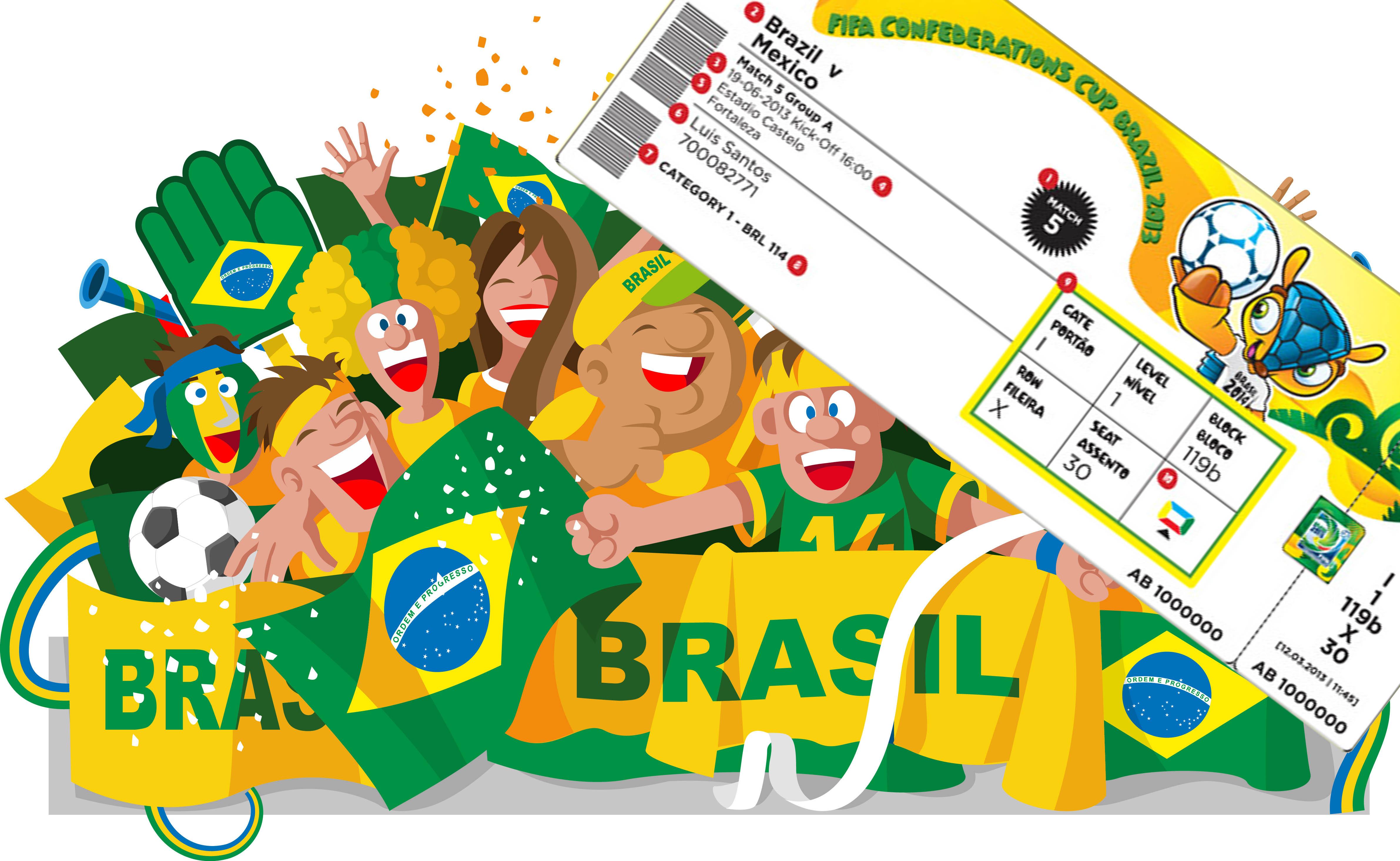 Boletos para Brasil 2014 - 4764x2931