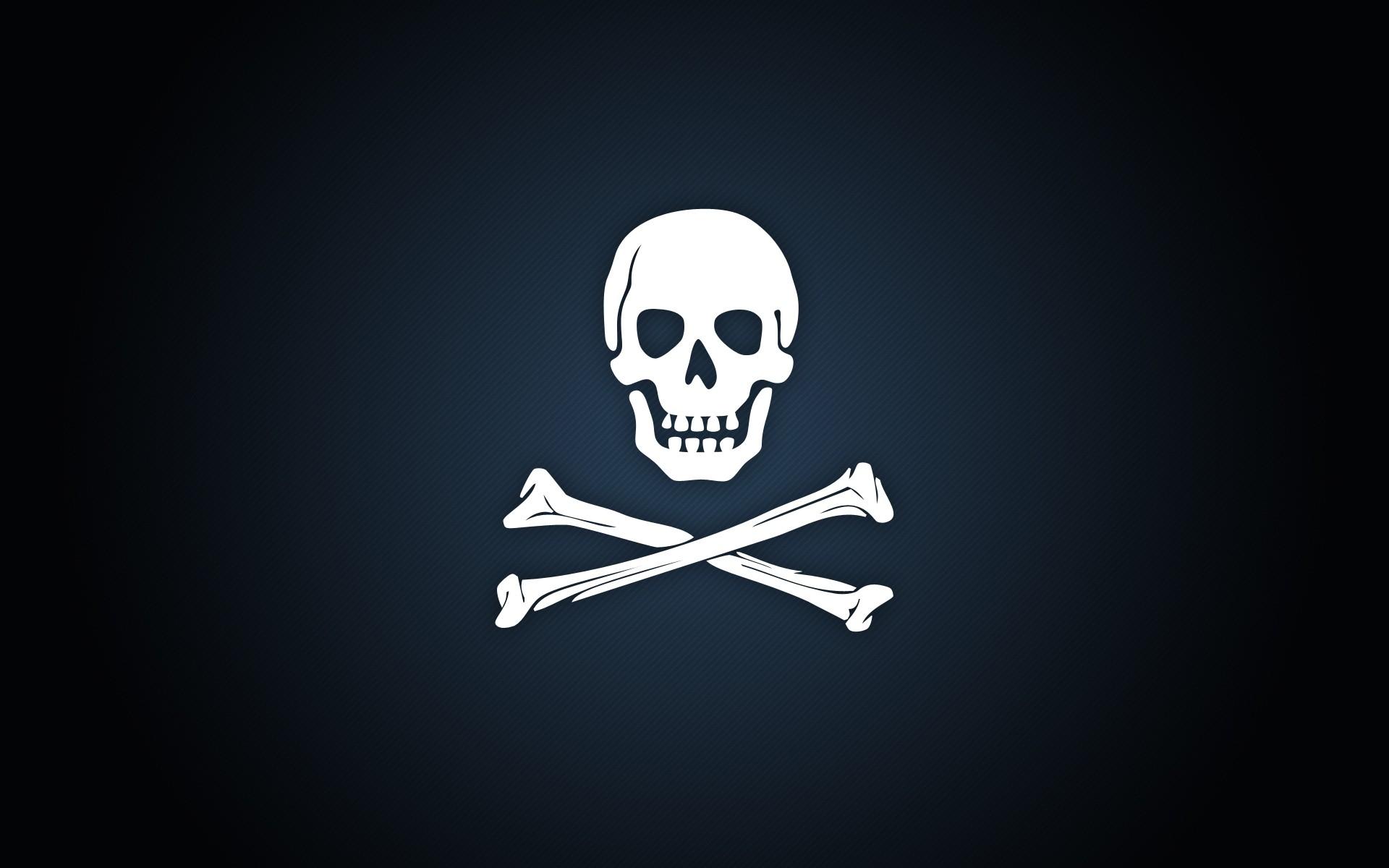 Calavera de piratas - 1920x1200