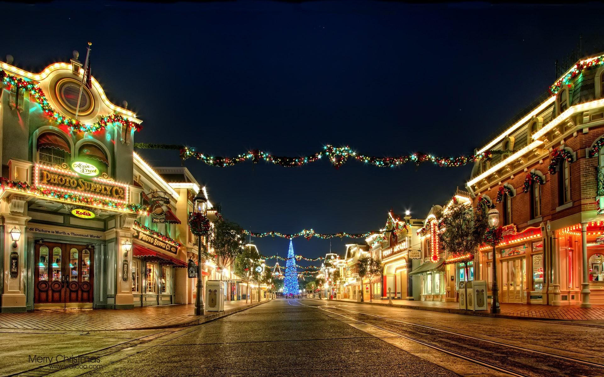 Calles decoradas por navidad - 1920x1200
