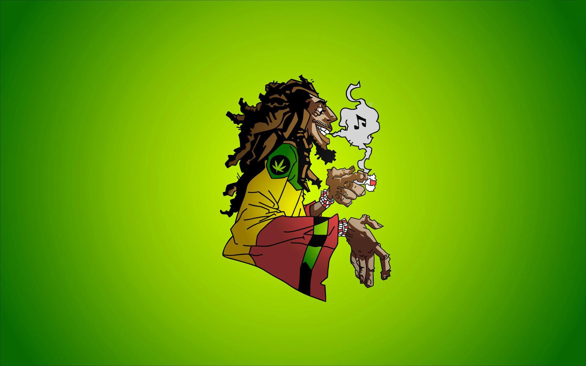 Caricatura de Bob Marley - 1920x1200