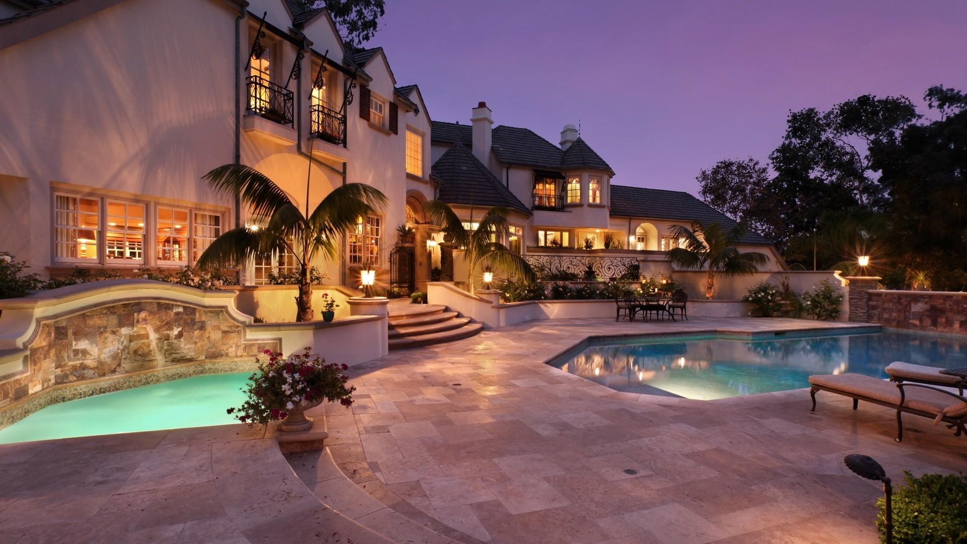 Casas con piscinas - 1920x1080