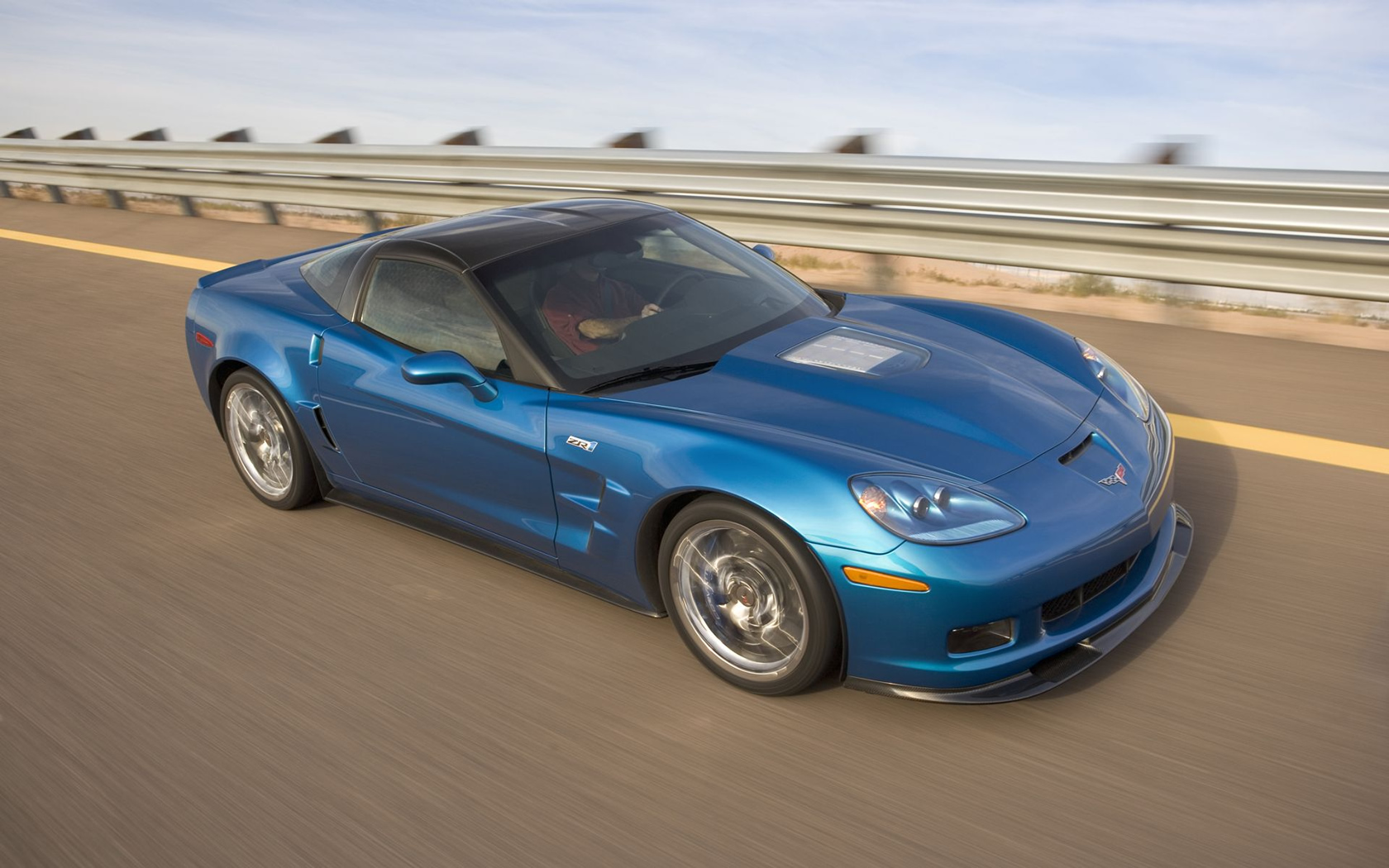 Chevrolet Corvette azul - 1680x1050