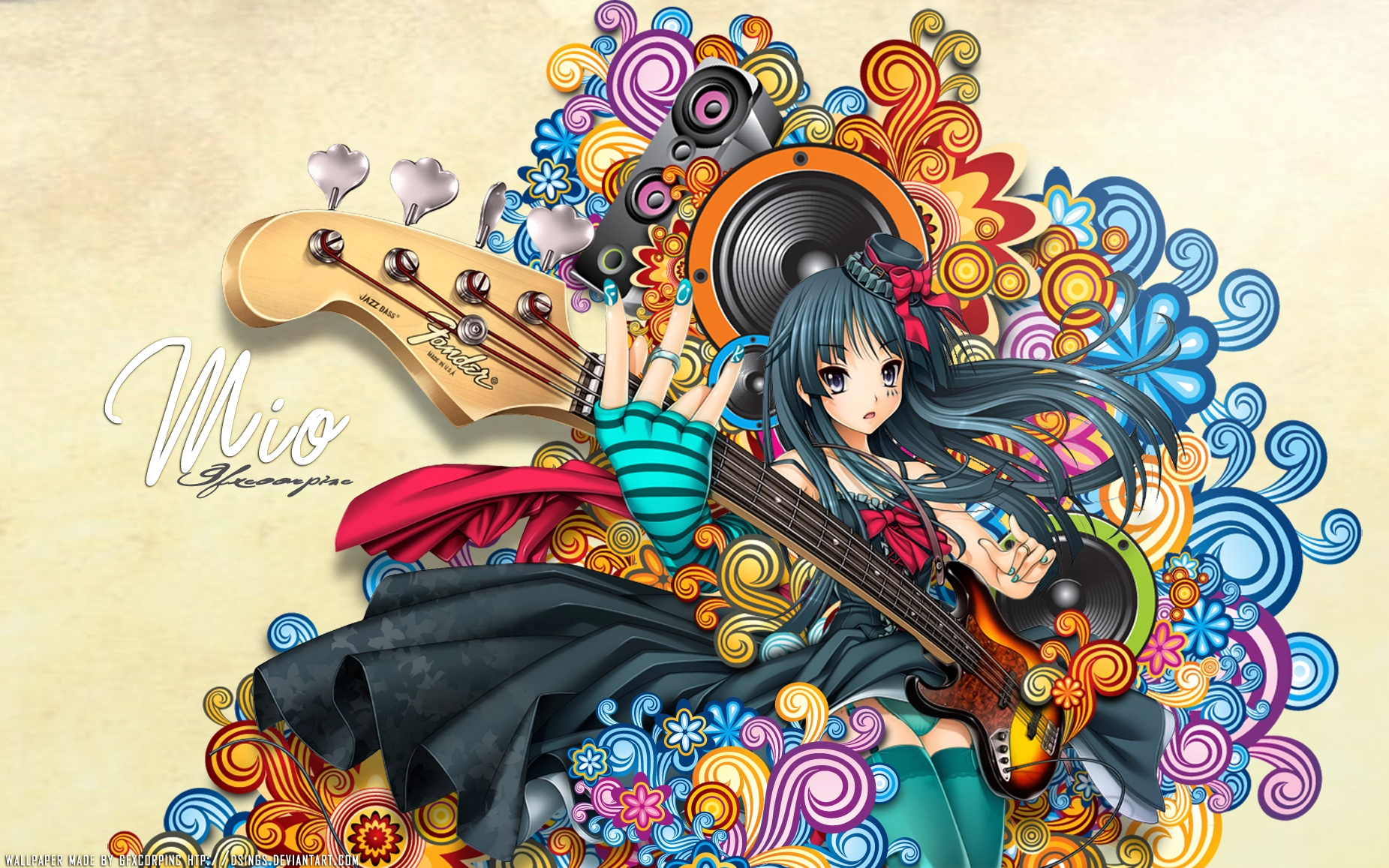 Chicas de anime y guitarras - 1851x1157