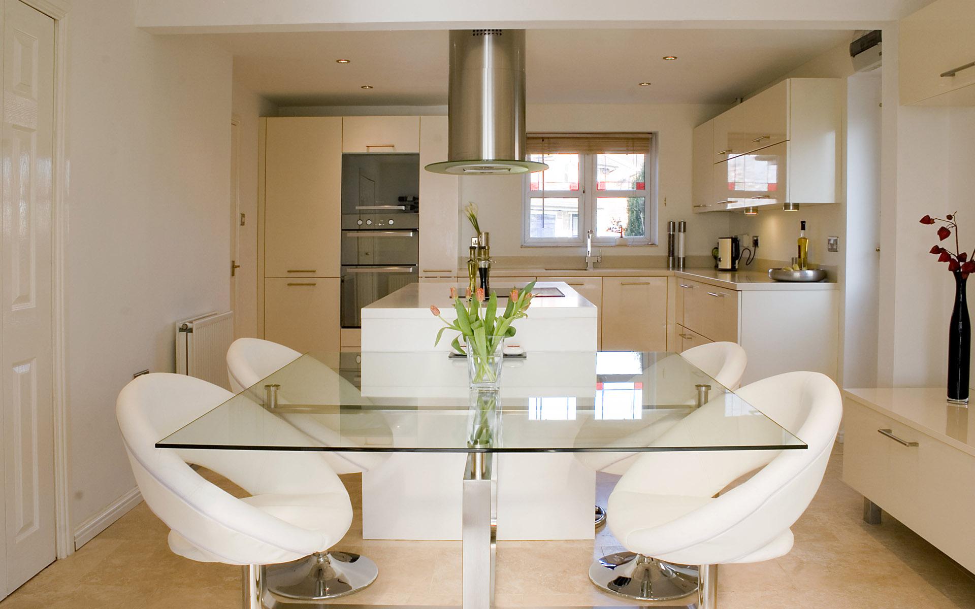 Cocinas Comedor Diseo Cocinas Abiertas Salon Espacio Pequeno  # Muebles De Cocina Jaque Mate