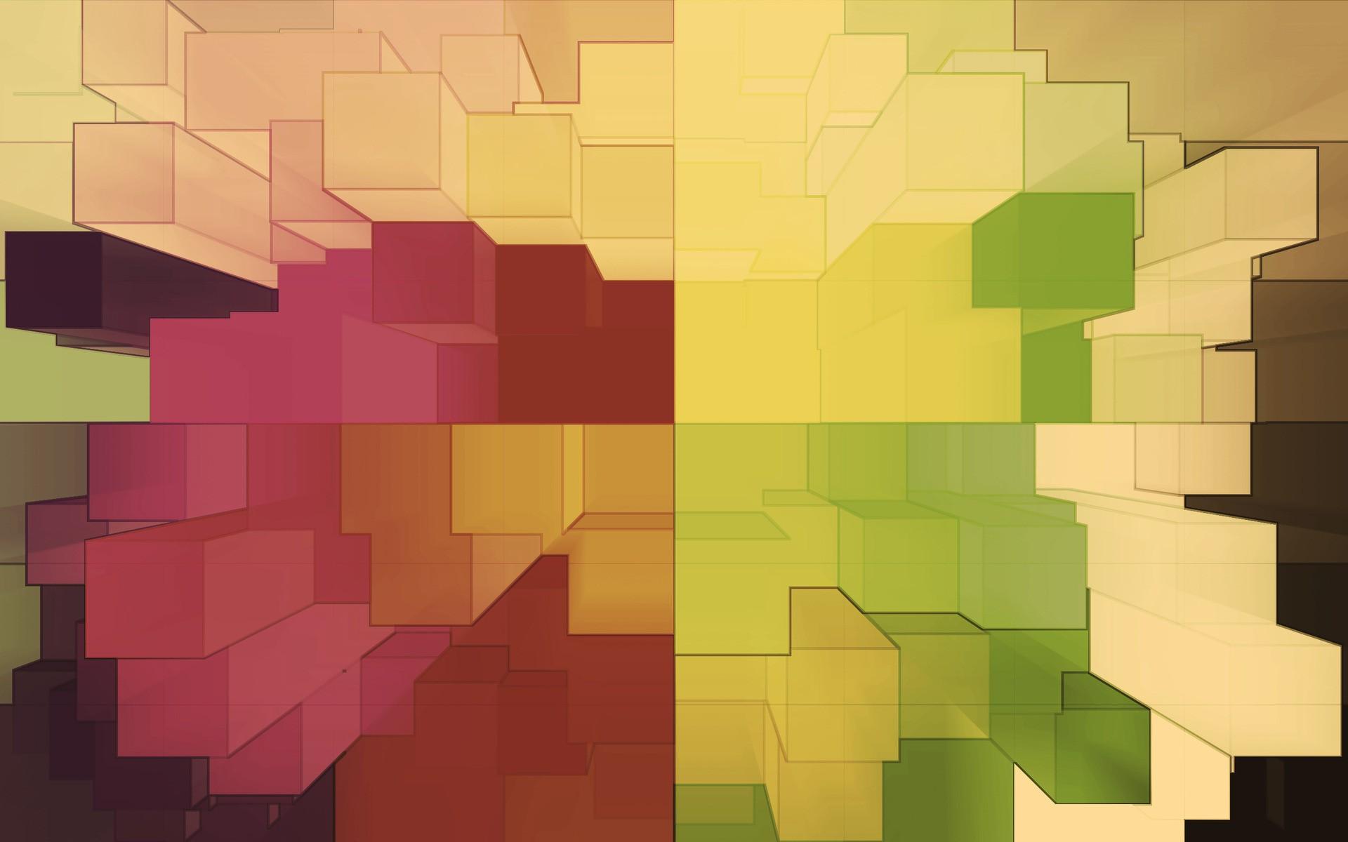 Cuadros abstractos pixelados - 1920x1200