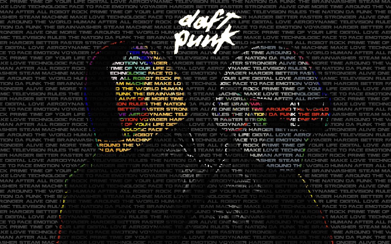 Daft Punk arte y letras - 1280x800
