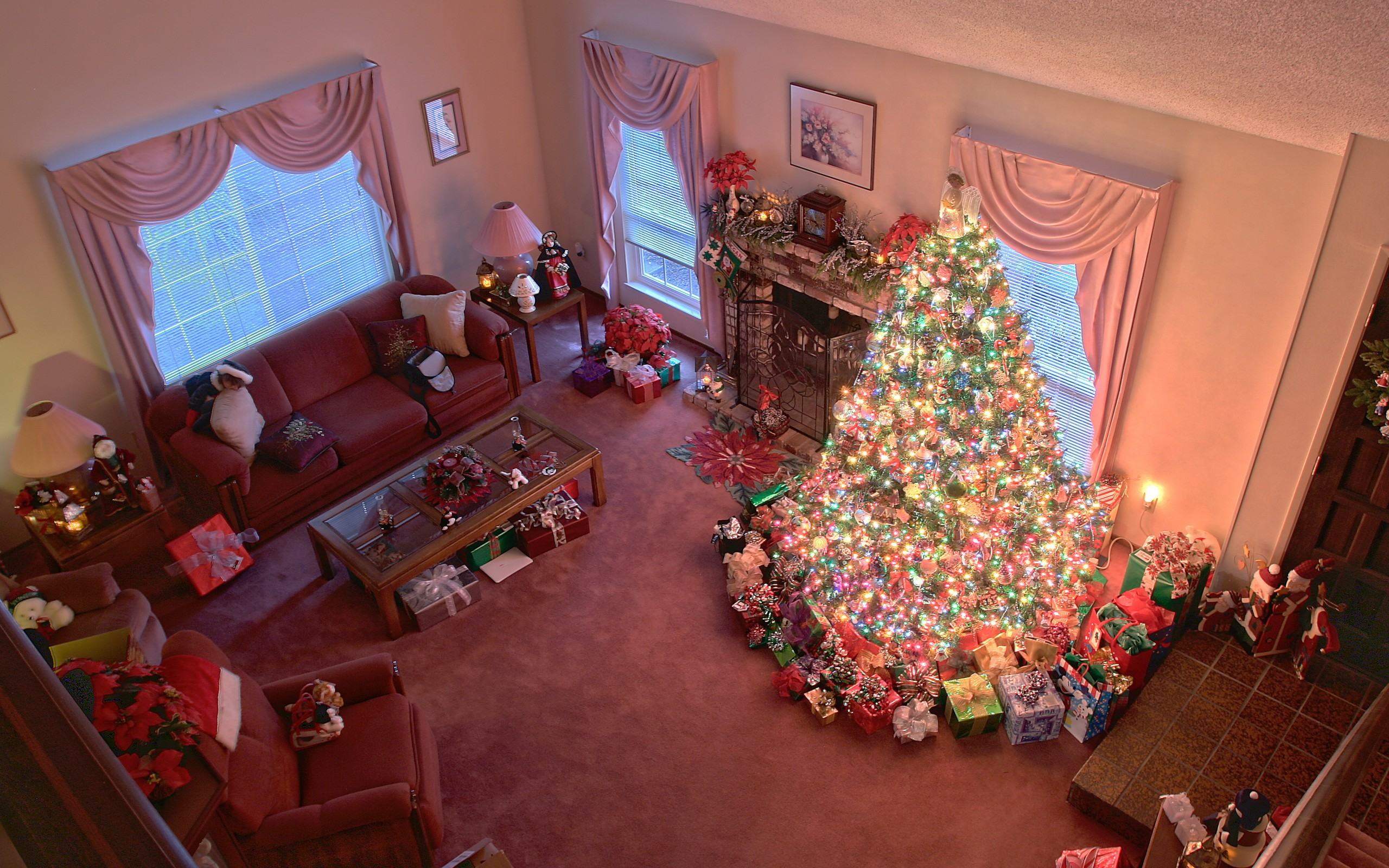 Decoración de navidad en casa - 2560x1600