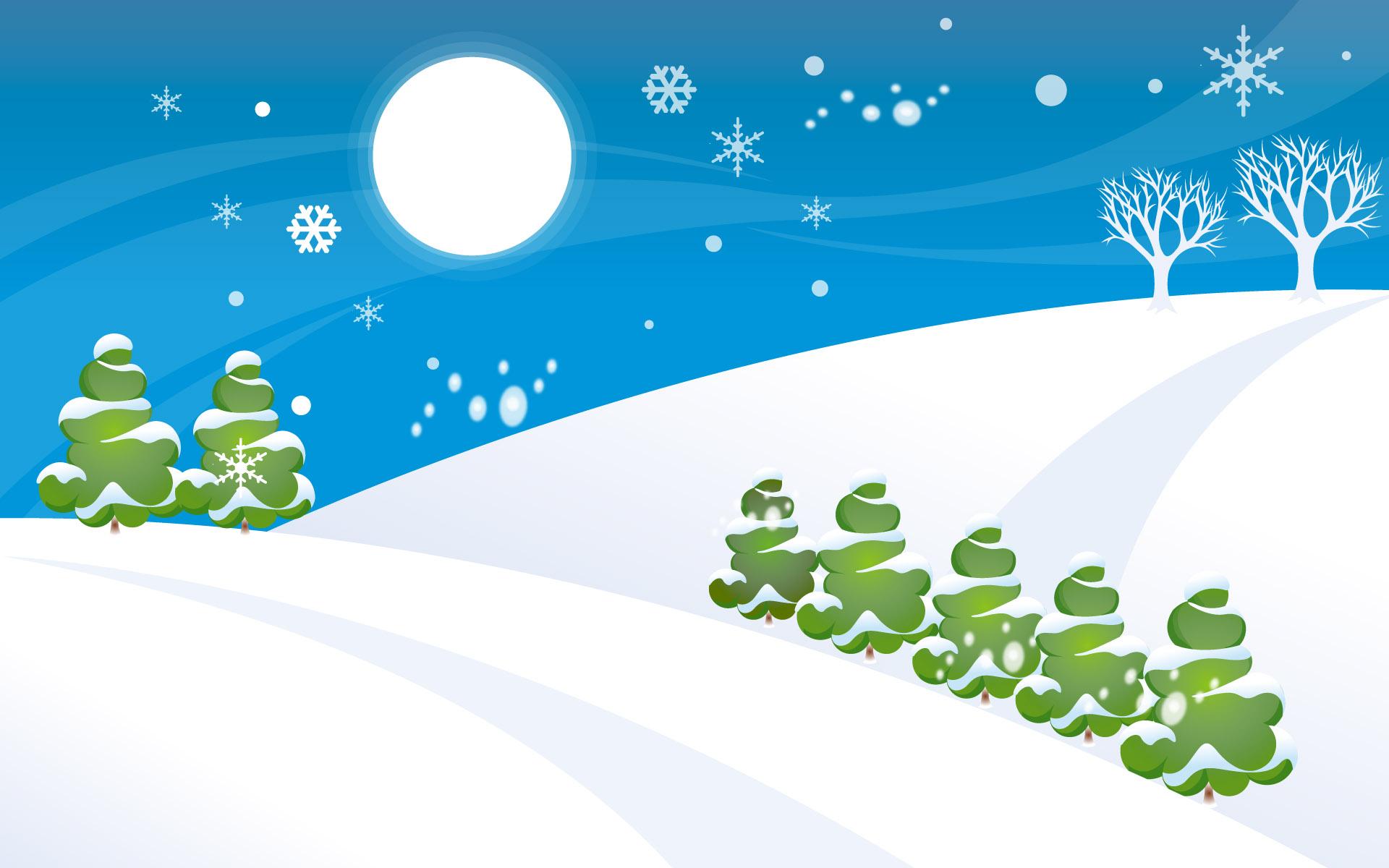 Dibujo con tema de navidad - 1920x1200