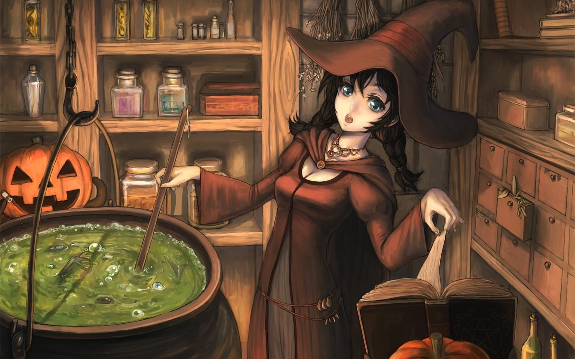 Dibujo de brujas - 1920x1200
