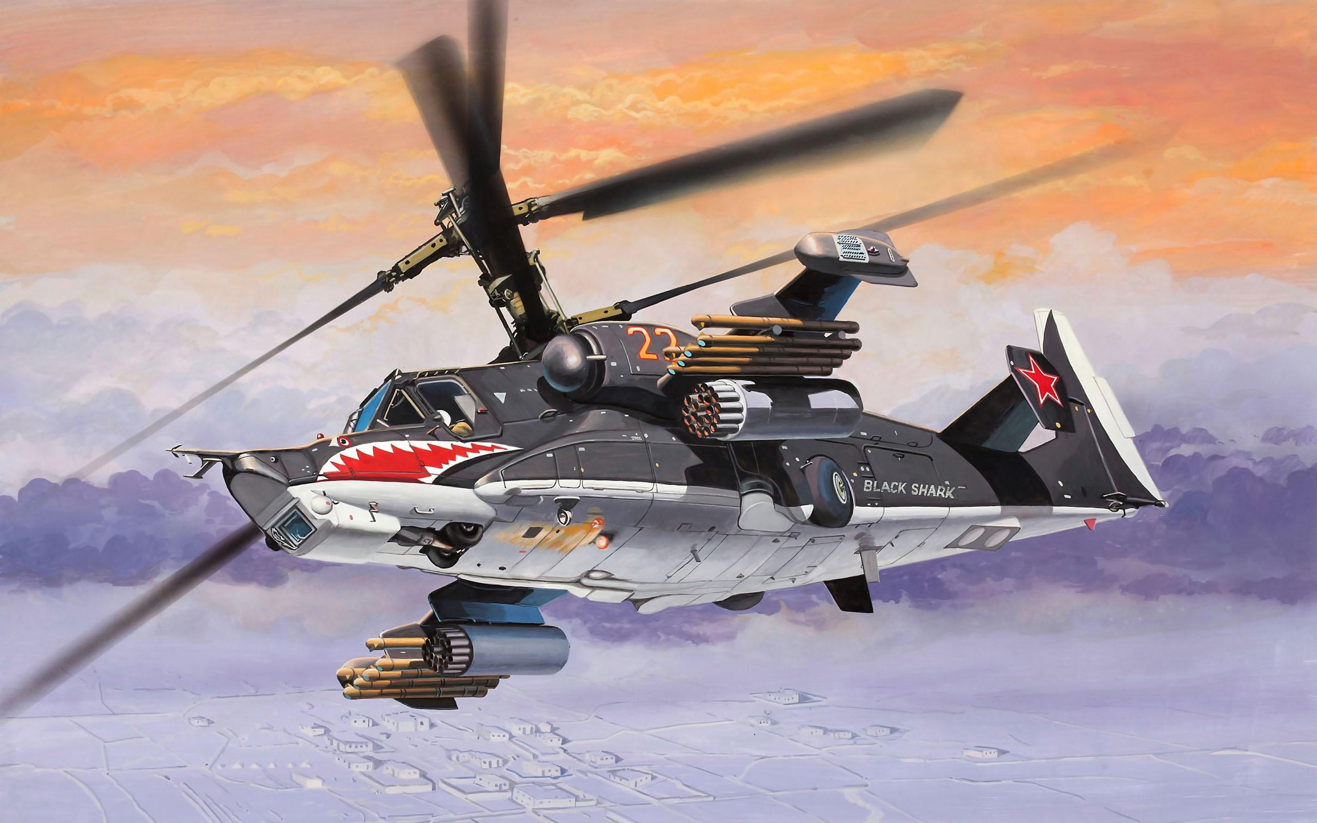 Dibujo de helicóptero - 2560x1600