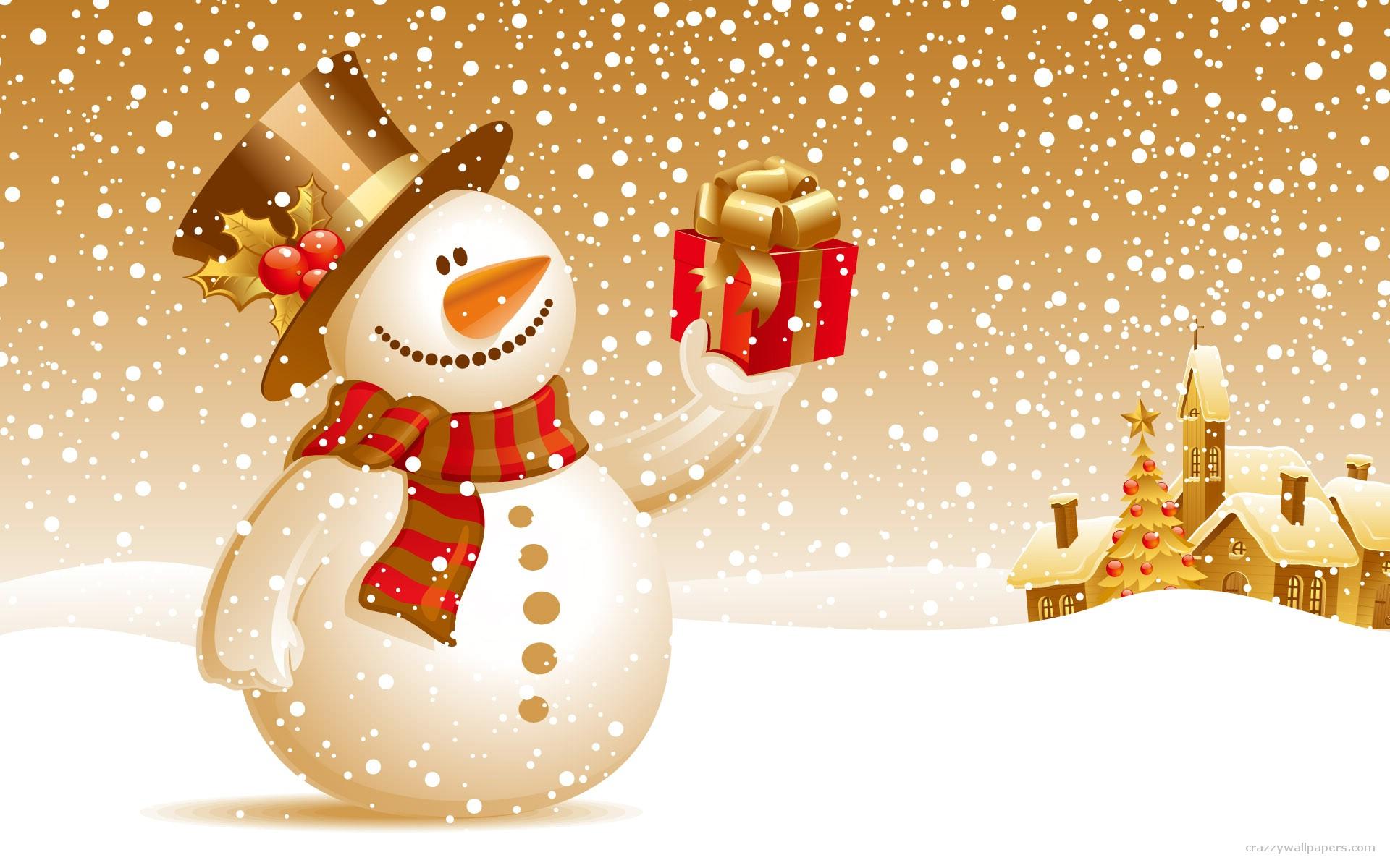 Dibujo de muñeco de las nieves - 1920x1200