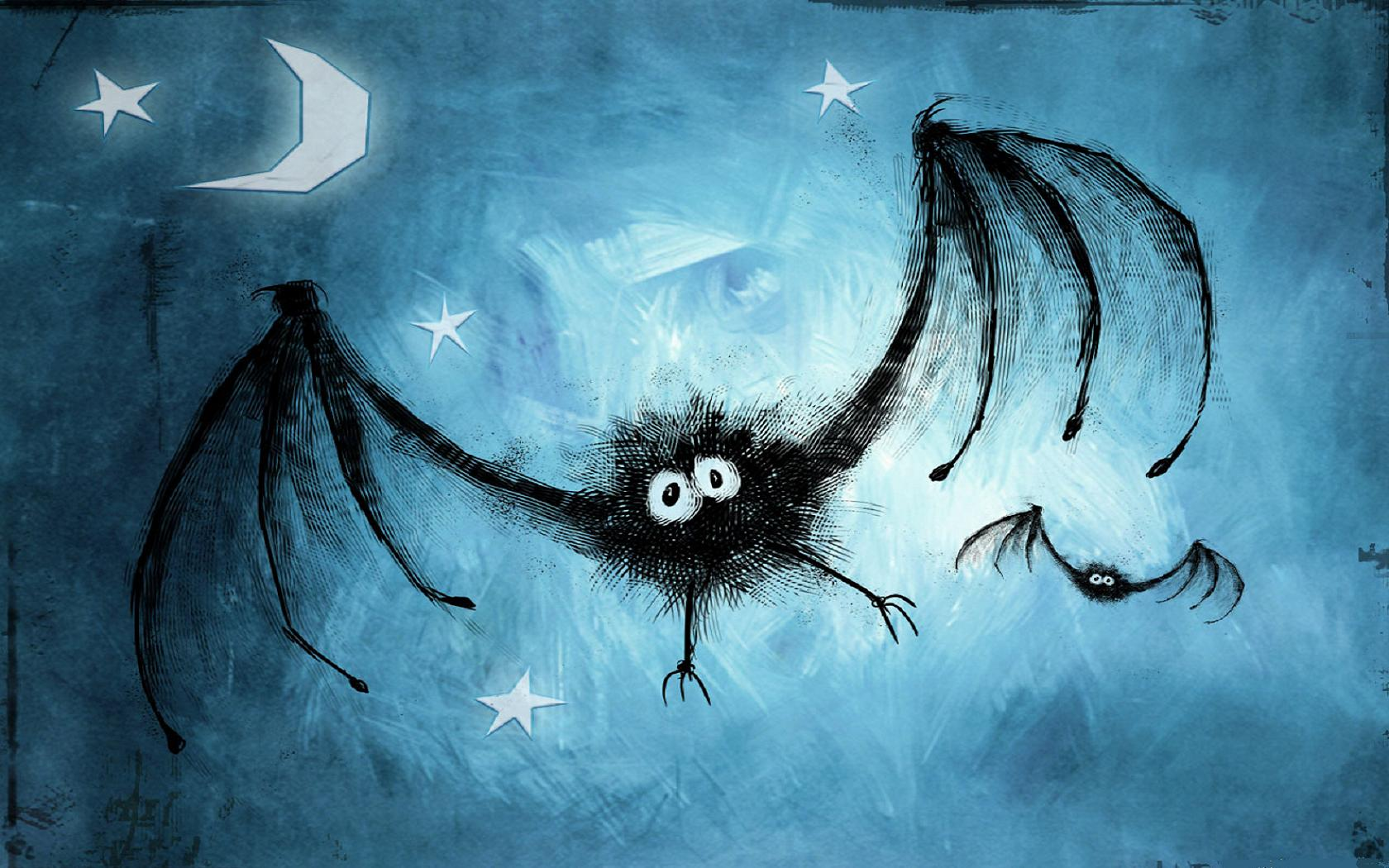 Dibujo de murcielagos - 1680x1050