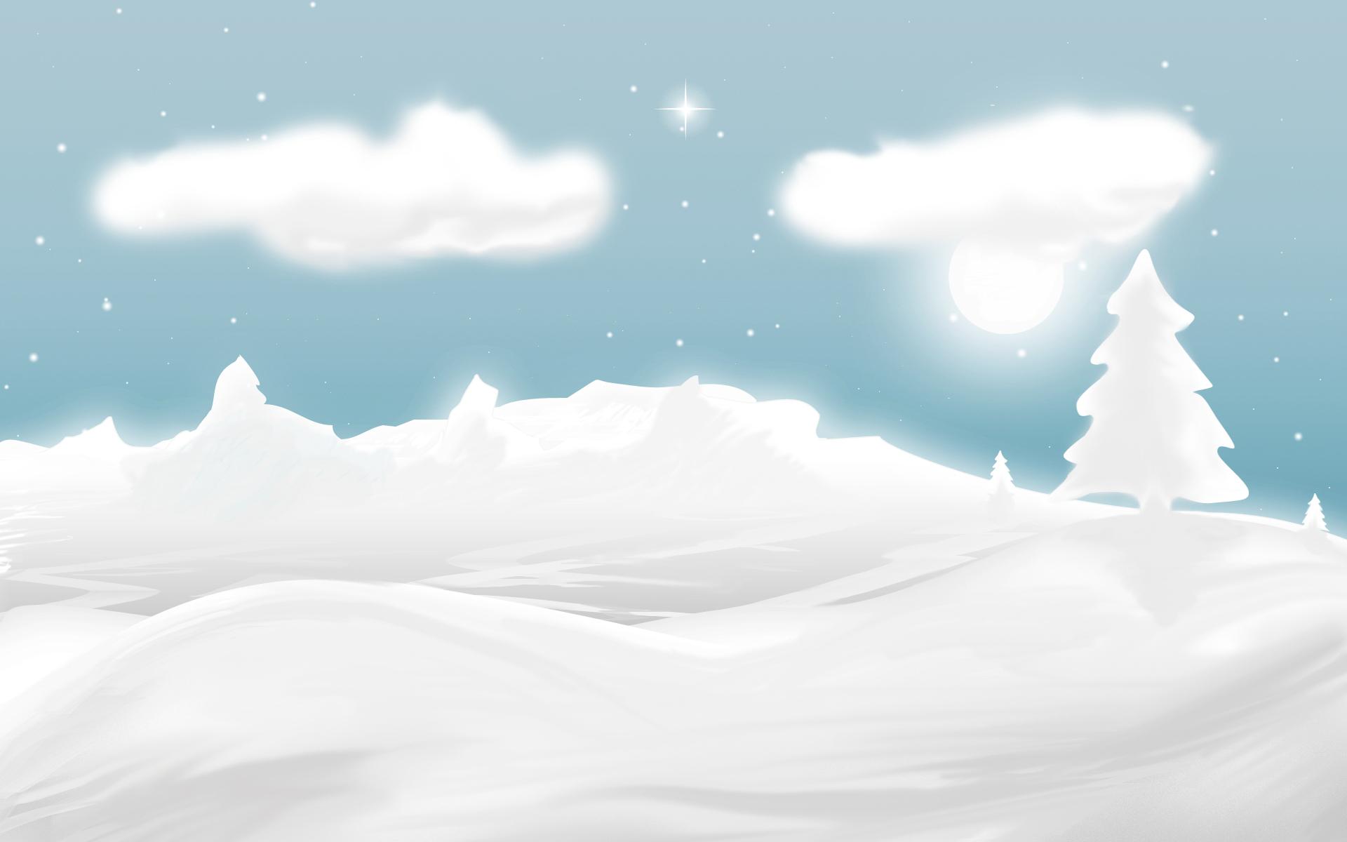 Dibujo de nieve y navidad - 1920x1200