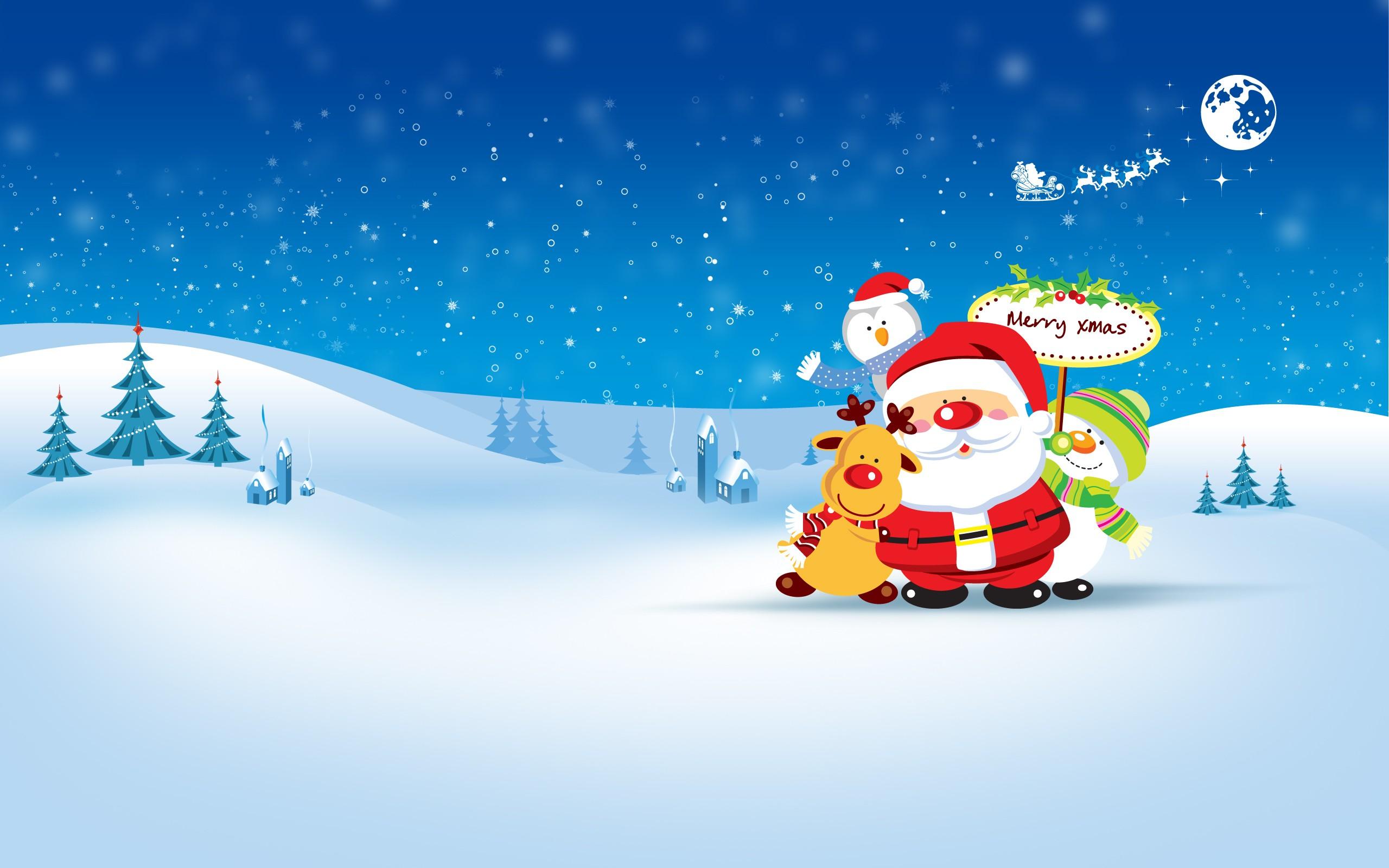 Dibujo de Santa Claus en Navidad - 2560x1600