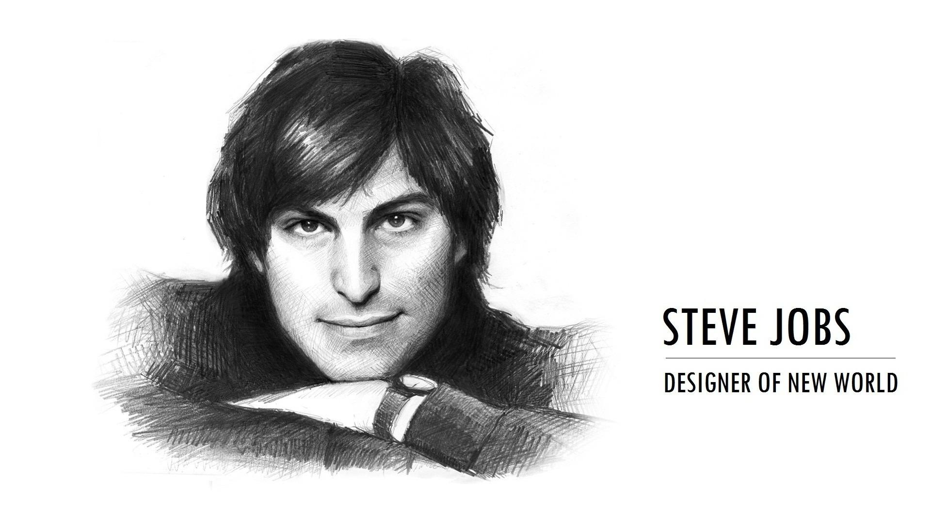 Dibujo de Steve Jobs - 1920x1080