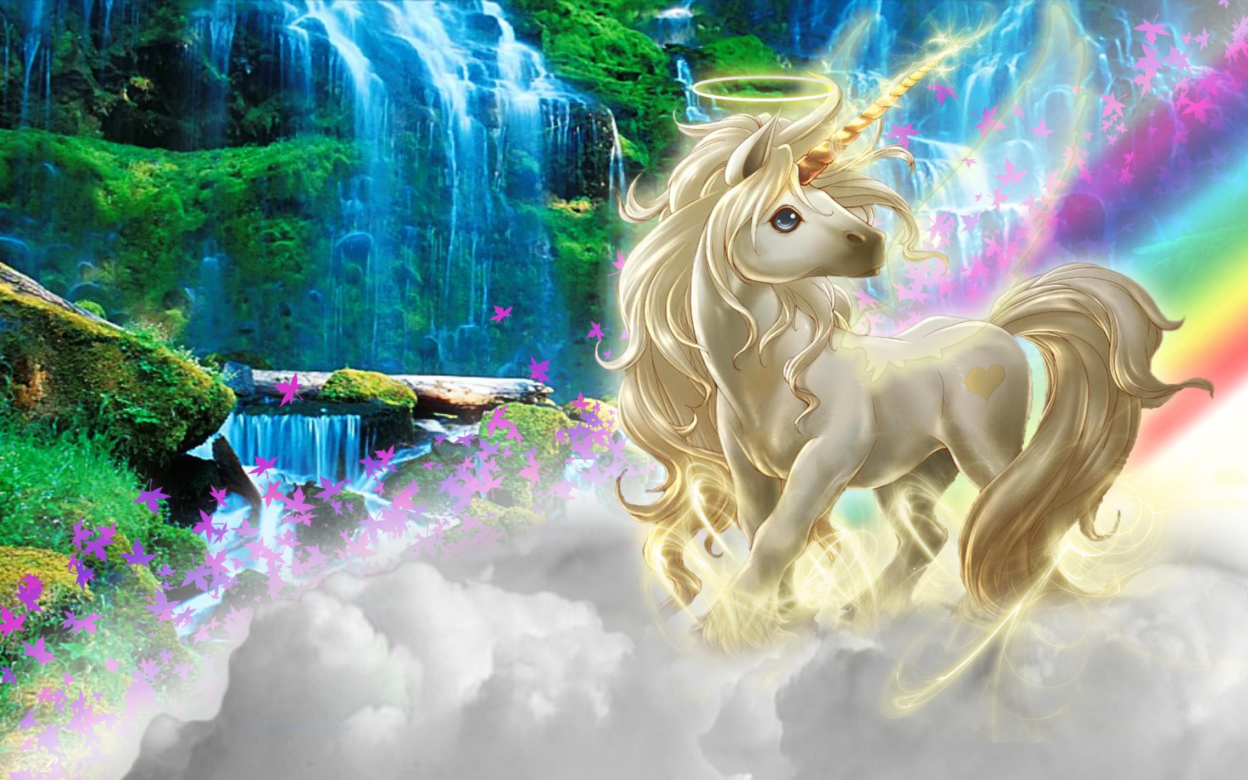 Dibujo de un unicornio - 2560x1600