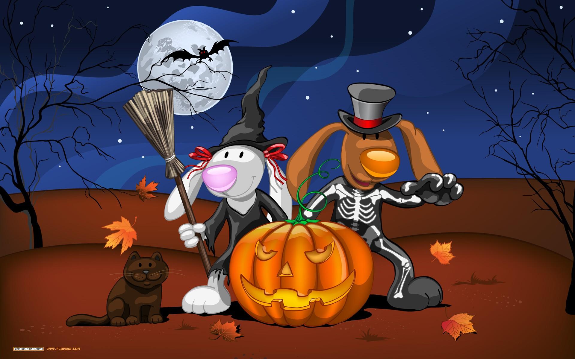 Dibujos y disfraces de halloween - 1920x1200